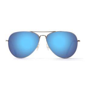Maui Jim Maverics Aviator Silver/Blue Hawaii Polarized Sunglasses Front View