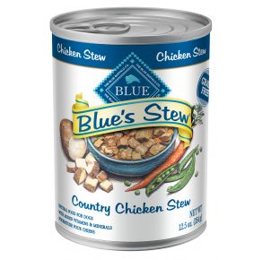 Blue Buffalo Blue's Country Chicken Stew Adult Wet Dog Food - 12.5 oz. Front of Can View