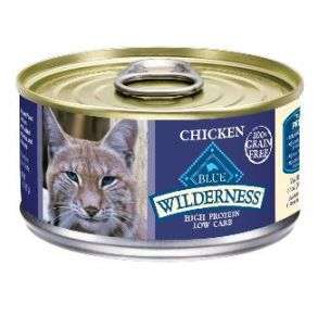 Blue Buffalo Wilderness Chicken Natural Grain Free Adult Wet Cat Food - 3 oz. Front of Can View