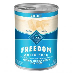 Blue Buffalo Freedom Grain Free Natural Chicken Adult Wet Dog Food - 12.5 oz. Front of Can View