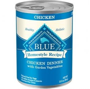 Blue Buffalo Homestyle Recipe Natural Chicken Dinner with Garden Vegetables Wet Dog Food -12.5 oz. Front of Can View