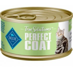 Blue Buffalo True Solutions Perfect Coat Skin and Coat Care Wet Cat Food - 3 oz. Front View