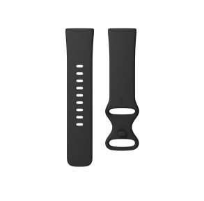Fitbit Sense & Versa 3 Infinity Band Size Large - Black Front View