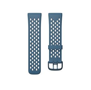 Fitbit Sense & Versa 3 Sport Band Size Large - Sapphire/Fog Grey Front View