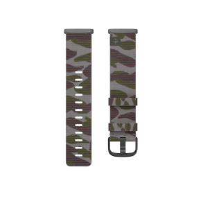 Fitbit Sense & Versa 3 Woven Band Size Large - Camo Front View