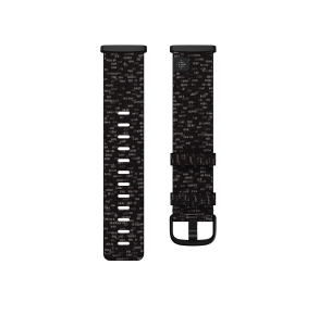 Fitbit Sense & Versa 3 Woven Band Size Large - Charcoal Front View