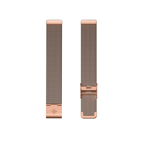 Fitbit Inspire 2 Stainless Steel Mesh - Rose Gold Front View