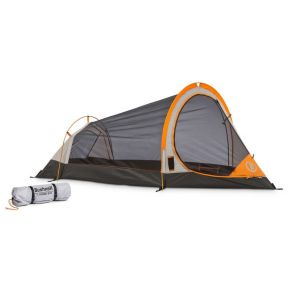 Bushnell 1 Person Backpacking Tent Exterior of Tent with Carrying Bag View