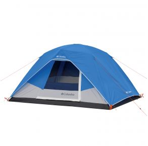 Columbia 4 Person Dome Tent Front View with Cover