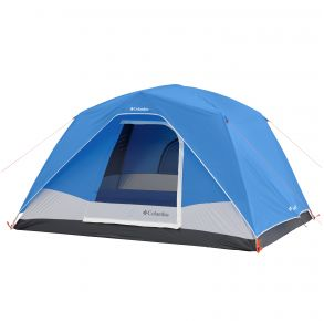 Columbia 6 Person Dome Tent Front View with Cover