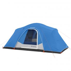 Columbia 8 Person FRP Tent Front with Cover View