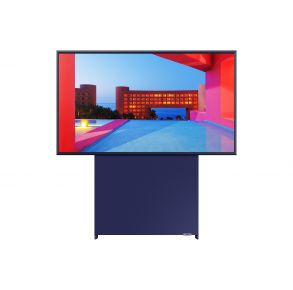 "Samsung 43"" Class The Sero QLED 4K UHD HDR Smart TV - Navy Blue Landscape Front View"