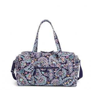 Vera Bradley French Paisley Large Travel Duffel Bag Front VIew