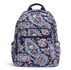 Vera Bradley French Paisley Campus Backpack Front View