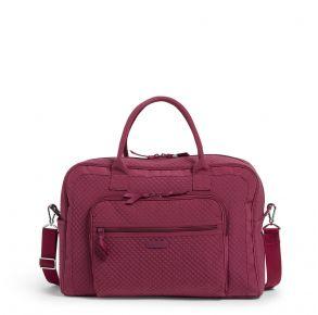 Vera Bradley Raspberry Radiance Weekender Travel Bag Front View