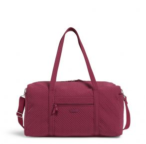 Vera Bradley Large Travel Duffel Bag - Raspberry Radiance Front View