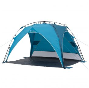 Outdoor Products Sun Shade Canopy Front with Back Shade Down View
