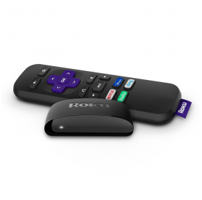 Roku Express HD Streaming Media Player Remote and Base View