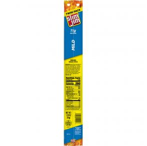 Slim Jim - Twin Pack - Mild Smoked Snack Stick Front View