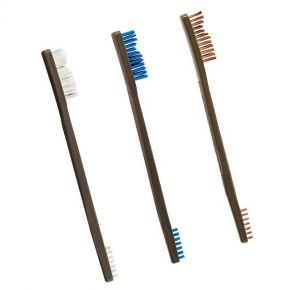 Otis Technology AP Brushes - 3 Pack -  Nylon/Blue Nylon/Bronze Side View