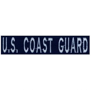 U.S. Coast Guard Branch Nametape Ripstop Blue Embroidered