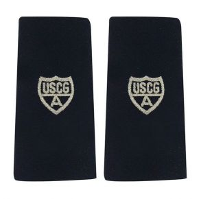 Coast Guard Auxiliary Shoulder Board: Enhanced Member - Silver A