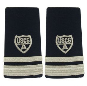 Coast Guard Auxiliary Shoulder Board: Enhanced Vice Flotilla Commander