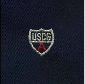 Coast Guard Auxiliary Sleeve Device - Blue with Red Letter A