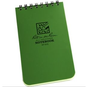 """Rite in the Rain 935 All-Weather Universal Notebook, Green, 3"""" x 5"""""""