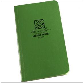 """Rite in the Rain 964 All-Weather Field-Flex Memo Book, Green, 3.5"""" x 6"""""""