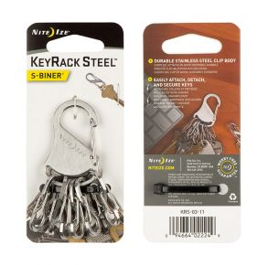 Nite Ize KeyRack Steel S-Biner Front and Back View