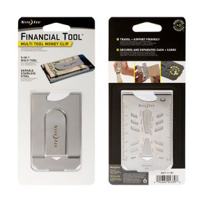 Nite Ize Financial Tool Multi Tool Money Clip Front and Back View