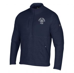 Coast Guard Under Armour Mens Game Day Hybrid Pullover Front View