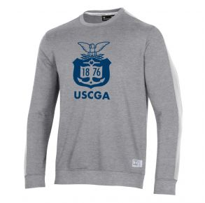 Coast Guard Academy Under Armour Mens Game Day Terrain Crew Sweatshirt Front View
