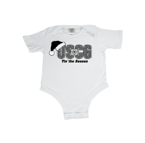 Coast Guard Infant USCG Holiday Tis' The Season Onesie Front View