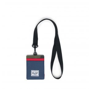 Herschel Supply Co. Charlie Wallet Lanyard - Navy/Red/Camo Front View