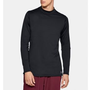 Under Armour Coldgear Armour Fitted Long Sleeve Mock Black Front View