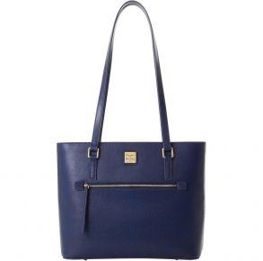 Dooney & Bourke Saffiano Shopper Tote Handbag - Marine Front View