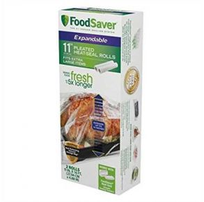 "FoodSaver 11"" Expandable Heat Seal Rolls Package View"