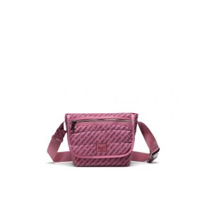 Herschel Supply Co. Grade Mini Messenger Bag - Deco Rose Quilted Front View