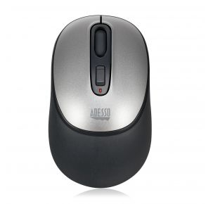 Adesso iMouse A10 Antimicrobial Wireless Mouse - Black/Silver Top View