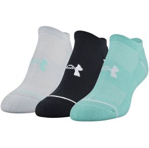 Under Armour Womens Phenom 2.0 No Show Socks - 3 Pack Front View