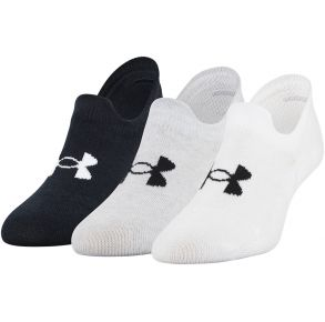Under Armour Womens Essentials Ultra Lo Socks - 3 Pack Front of Pack View