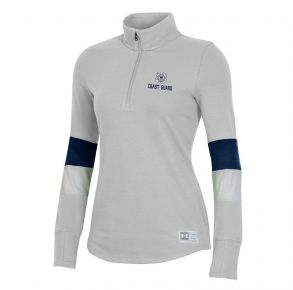 Coast Guard Under Armour Womens Game Day 1/4 Zip Long Sleeve Shirt Front View