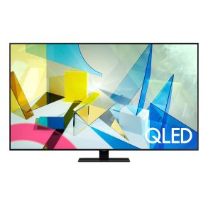 """Samsung 55"""" Class Q80T QLED 4K UHD HDR Smart TV (2020) Front View"""