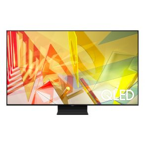 """Samsung 55"""" Class Q90T QLED 4K UHD HDR Smart TV (2020) Front View"""