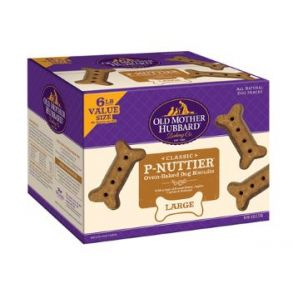 Old Mother Hubbard Classic Crunchy P-Nuttier Large Dog Biscuits 6 lbs Package View