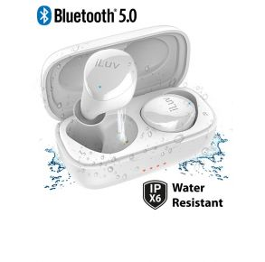 iLuv Bubble Gum True Wireless Earbuds - White Front View