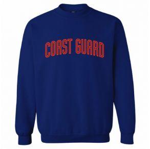 Coast Guard Mens Flock Print Crew Sweatshirt Front View