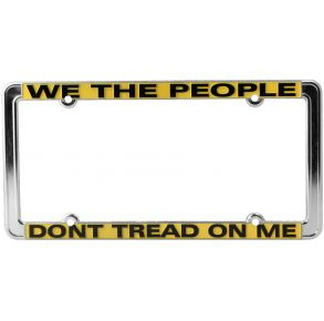 Coast Guard License Plate Frame - We The People Dont Tread On Me Front View
